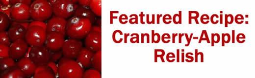 Featured Recipe: Cranberry-Apple Relish