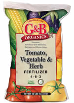 GBO Tomato, Vegetable & Herb Fertilizer